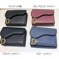 Christian Dior Japan Exclusive! DIOR SADDLE Leather Folding Wallet