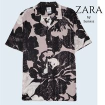 ZARA Flower Patterns Short Sleeves Shirts