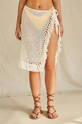 Plain Fringes Beach Cover-Ups