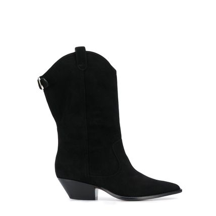 Casual Style Plain Leather Block Heels PVC Clothing
