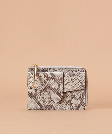 Plain Leather Python Small Wallet Coin Cases