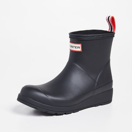 HUNTER Rubber Sole Plain Logo Rain Boots Boots