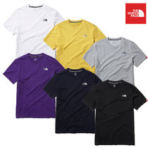 THE NORTH FACE Unisex Street Style Short Sleeves Logo Outdoor T-Shirts