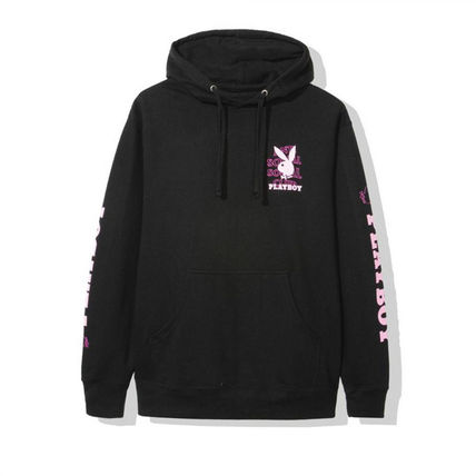 ANTI SOCIAL SOCIAL CLUB Hoodies Camouflage Street Style Collaboration Logo Hoodies 3
