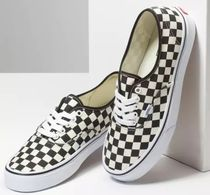 VANS AUTHENTIC Casual Style Unisex Street Style Logo Slip-On Shoes