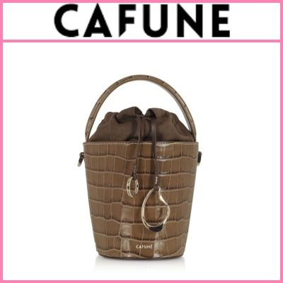Casual Style Calfskin Street Style 2WAY Plain Leather