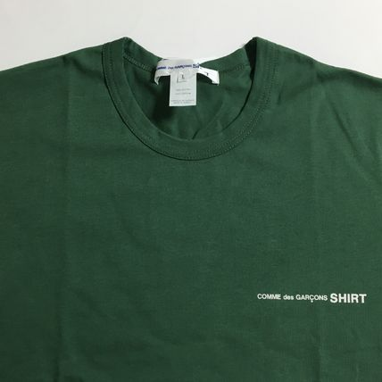 COMME des GARCONS Long Sleeve Crew Neck Cotton Short Sleeves Logo Designers 8