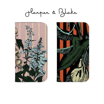 Harper & Blake Smart Phone Cases Flower Patterns Unisex Faux Fur Bi-color Handmade iPhone 8