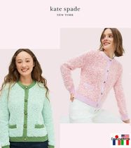 kate spade new york Cable Knit Casual Style Blended Fabrics Long Sleeves Plain