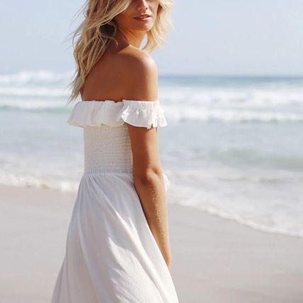 Casual Style Plain Long Party Style Elegant Style Dresses