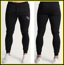 VANQUISH FITNESS Tapered Pants Sweat Plain Cotton Logo Tapered Pants