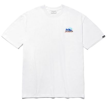 Street Style Plain Cotton Short Sleeves Logo T-Shirts