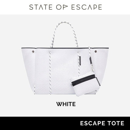 State of Escape Casual Style Unisex Street Style Plain Satchels