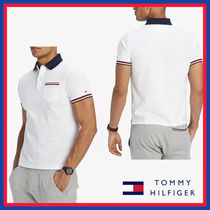 Tommy Hilfiger Stripes Street Style Cotton Short Sleeves