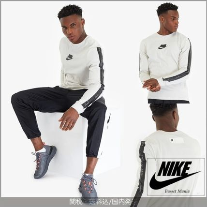 Nike Long Sleeve Crew Neck Street Style Long Sleeves Cotton