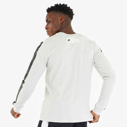 Nike Long Sleeve Crew Neck Street Style Long Sleeves Cotton 5