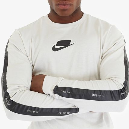 Nike Long Sleeve Crew Neck Street Style Long Sleeves Cotton 6
