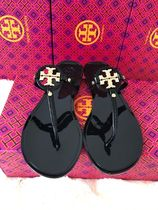Tory Burch MILLER Open Toe Platform Plain Footbed Sandals Flip Flops