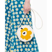 marimekko Flower Patterns Casual Style Canvas Elegant Style Crossbody