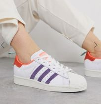 adidas SUPERSTAR Stripes Casual Style Street Style Low-Top Sneakers