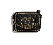 CHANEL Casual Style Unisex 2WAY Chain Plain Leather Party Style