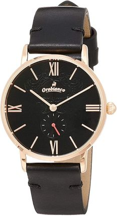 Casual Style Leather Round Quartz Watches Stainless