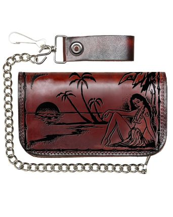 Unisex Street Style Leather Handmade Folding Wallet