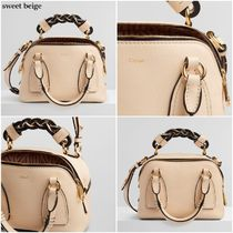 Chloe Casual Style Calfskin 2WAY 3WAY Plain Leather Office Style