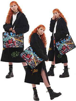 Casual Style Unisex Street Style Collaboration A4 2WAY Bags