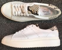 STOKTON Leather Low-Top Sneakers