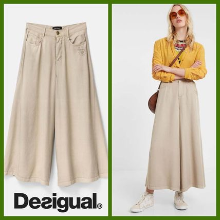 Casual Style Long Office Style Pants