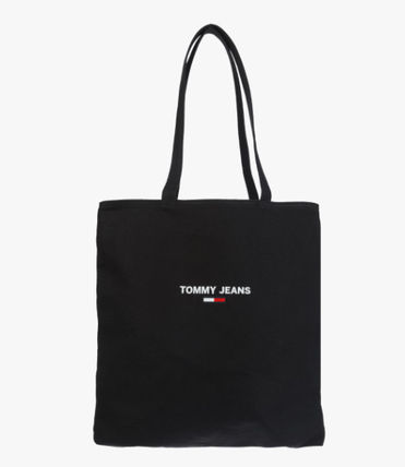 Casual Style Unisex Street Style 2WAY Logo Totes