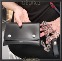 CELINE Unisex Calfskin Street Style Chain Plain Leather