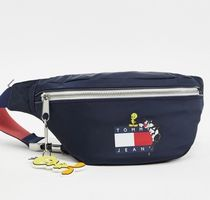 Tommy Hilfiger Casual Style Unisex Collaboration Plain Logo Hip Packs