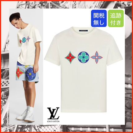 Louis Vuitton More T-Shirts Crew Neck Monogram Cotton Short Sleeves Logo T-Shirts