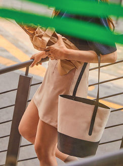 Elbategev Casual Style 2WAY Plain Leather Totes