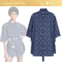 Louis Vuitton Monogram Casual Style Cropped Cotton Party Style