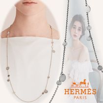 HERMES Casual Style Street Style Chain Party Style Silver