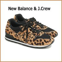 J Crew Leopard Patterns Round Toe Rubber Sole Casual Style Suede