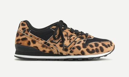 Leopard Patterns Round Toe Rubber Sole Casual Style Suede