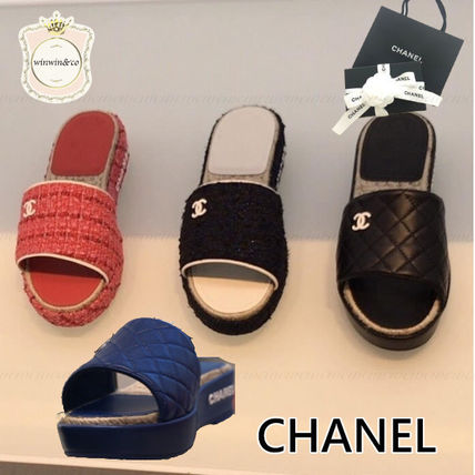 CHANEL Casual Style Sandals