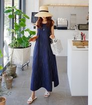 Stripes Maxi Linen Dresses