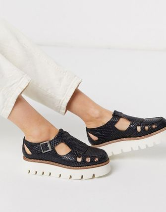 Round Toe Casual Style Leather Shoes