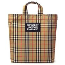 Burberry Other Plaid Patterns Casual Style Unisex Canvas Street Style