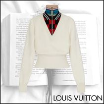 Louis Vuitton Stripes Other Plaid Patterns Casual Style Wool Cashmere