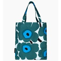 marimekko Flower Patterns Casual Style Canvas A4 Elegant Style Logo
