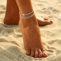 Casual Style Chain Anklets