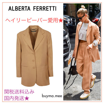 Stand Collar Coats Plain Long Office Style Elegant Style