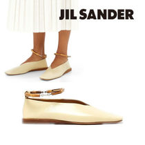 Jil Sander Square Toe Casual Style Plain Leather Formal Style  Flats
