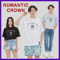 ROMANTIC CROWN Unisex Cotton Logo T-Shirts